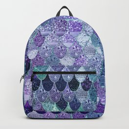 SUMMER MERMAID  Purple & Mint by Monika Strigel Backpack