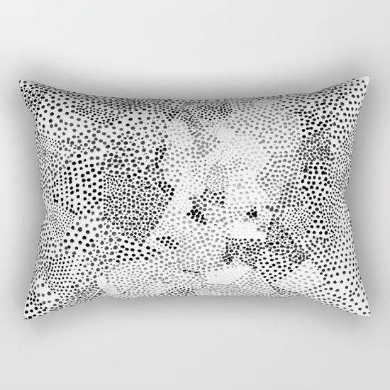 Dot Matrix BW | Abstract Geometric Rectangular Pillow
