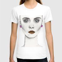 cara T-shirts featuring Cara by Vicky Ink.
