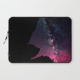 Milky Way Rock Fuchsia Purple Teal Laptop Sleeve