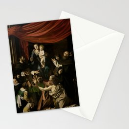 Madonna of the Rosary - Caravaggio Stationery Cards