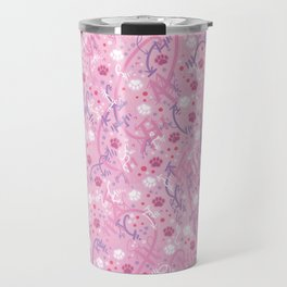 Strawberry Smoothie Paw Prints Travel Mug
