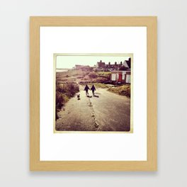 The Race to the Beach Framed Art Print