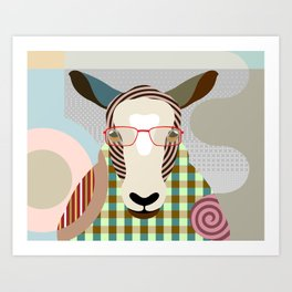 The Shepherd Sheep Art Print