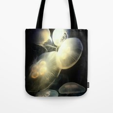 Jellyfish Darkness to Light Tote Bag
