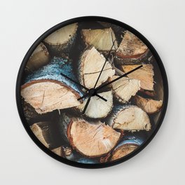 Wood / Photography Print / Photography / Color Photography Wall Clock