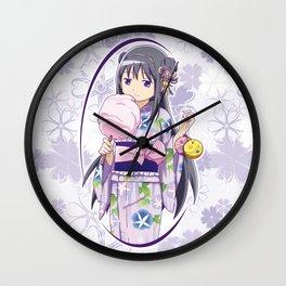 Homura Akemi - Yukata edit. (rev. 1) Wall Clock