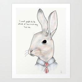 jimmy rabbit Art Print