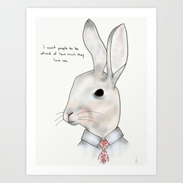 jimmy rabbit Art Print