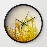 coldplay Wall Clocks featuring And it Was All Yellow by Olivia Joy StClaire