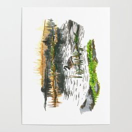 Facing water Poster
