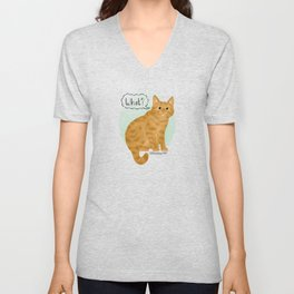 What's New Kitty Cat Unisex V-Neck