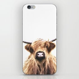 Highland Cow Portrait iPhone Skin