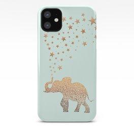 ELEPHANT - GOLD MINT iPhone Case