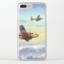 B-25 Mitchell Aircraft Clear iPhone Case
