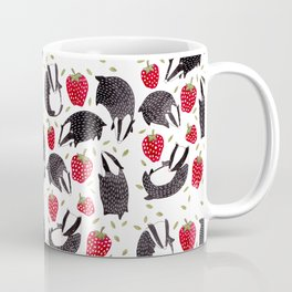 Badgers and Strawberries Coffee Mug