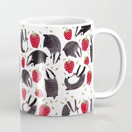 Badgers and Strawberries Coffee Mug