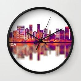 Luanda Angola Skyline Wall Clock