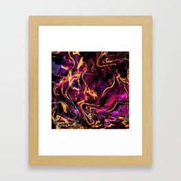 Fluid Abstract 40; Emotional Outburst Framed Art Print