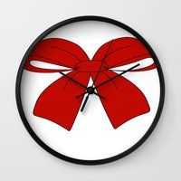 bow Wall Clocks featuring bow by  MuDi