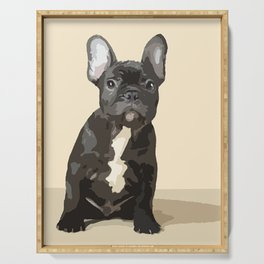 French bulldog puppy! Serving Tray