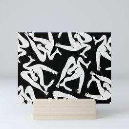 Picasso Pattern - Black and White Mini Art Print