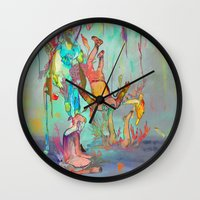 archan nair Wall Clocks featuring Soulipsism by Archan Nair