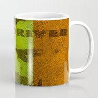 taxi driver Mugs featuring Taxi Driver by Joe Ganech