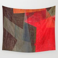 anxiety Wall Tapestries featuring Dominated by the Anxiety by Fernando Vieira