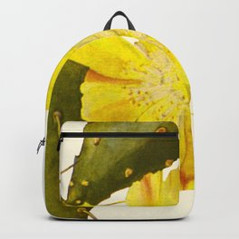 Blossoming Prickly Pear cactus Backpack