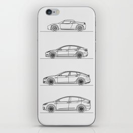 TESLA LINE UP iPhone Skin