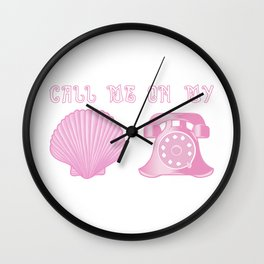 KG Beauty Call Me On My Shell Phone Wall Clock