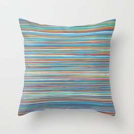 Colorful lines summer pattern Throw Pillow