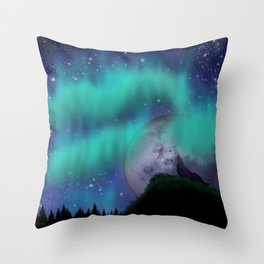 Midnight Howl Throw Pillow