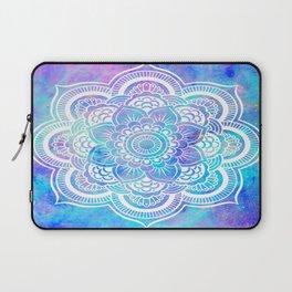 Mandala Pink Lavender Aqua Galaxy Space Laptop Sleeve