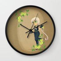 transistor Wall Clocks featuring Retro Sailor Star Healer by Crimson Pumpkin
