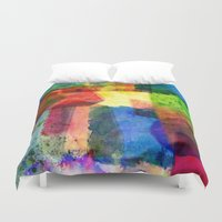 water color Duvet Covers featuring water color by Pao Designs