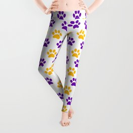 LSU Tiger Paw-Prints Leggings Leggings
