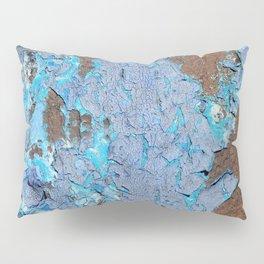 Blue rust Pillow Sham