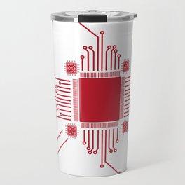 Geek CPU Red Travel Mug