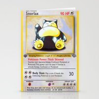 snorlax Stationery Cards featuring Snorlax Card by Neon Monsters