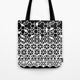 Dissecting Geometric Patterns (Black) Tote Bag