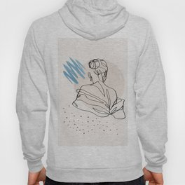 Woman Back, Line Art, Line Drawing, One Line, Outline, Female Hoody