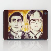 dwight schrute iPad Cases featuring Michael & Dwight by Melissa Dilger