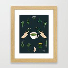 Magical Herbal Tea Framed Art Print