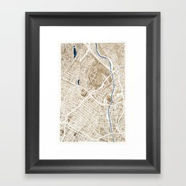 Los Angeles California City Map Framed Art Print