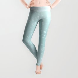 An illustration of the water bubbles background.  Leggings