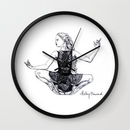 Crouching Dancer ballet pointe shoes Wall Clock