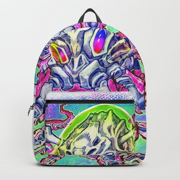Skeleton Octopus Alien Backpack