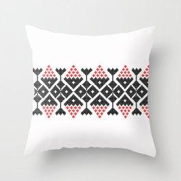 romanian traditional Throw Pillow